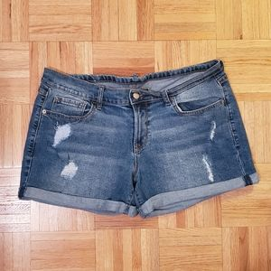 Old Navy | Faux Tear Cuffed Jean Shorts